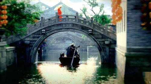 壁纸 风景 古镇 建筑 旅游 桥 摄影 500_280